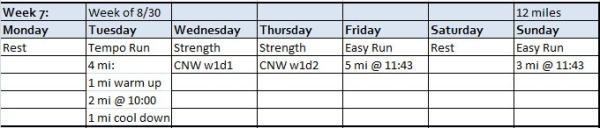 Week 7 Planned